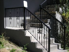Ornamental Iron Stair Railing