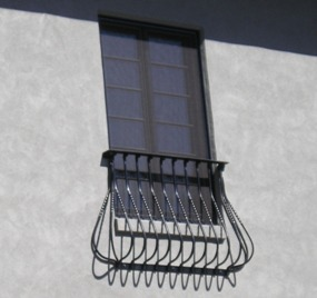 Ornamental Iron Window Treatment