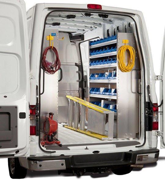 Striking Metal Shelving Design To Increase Your Storage Space: Ranger Design Van Shelving, Racks, And Accessories